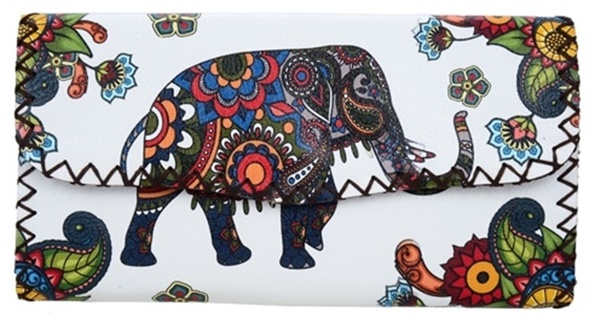 Floral Elephant Printed Wallet