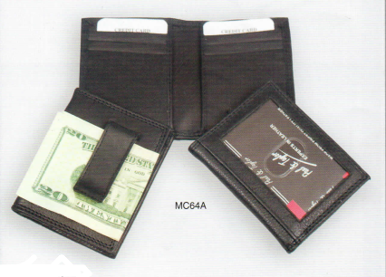 Bi-Fold ID/CC Holder w/Fixed Money Clip