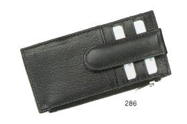 Small & Slim Credit Card Holder w/Zippered Money Compartment