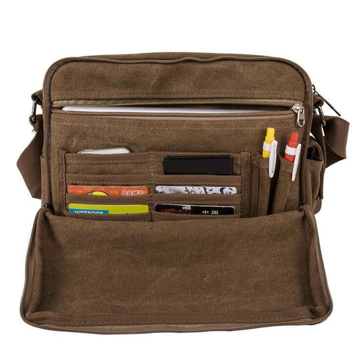 Canvas - Vintage Multi Function Canvas Shoulder Bag